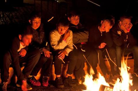 """Wir sind noch gaaar nicht müde...""    Zeltlager  2015       Foto: Benjamin Hilbig"